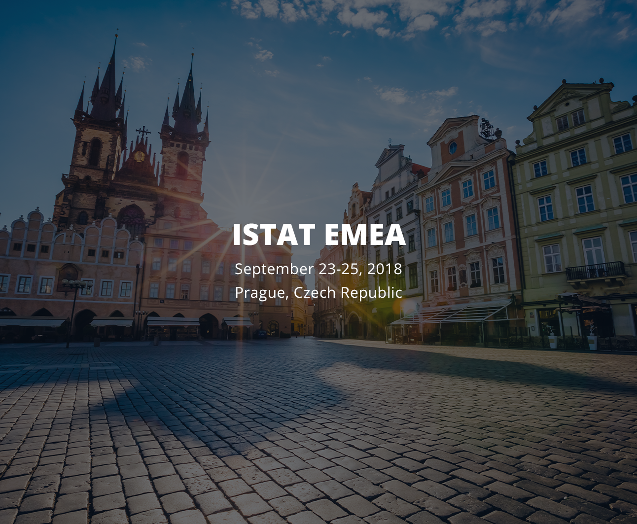 Meet us at ISTAT September 23-25th 2018!